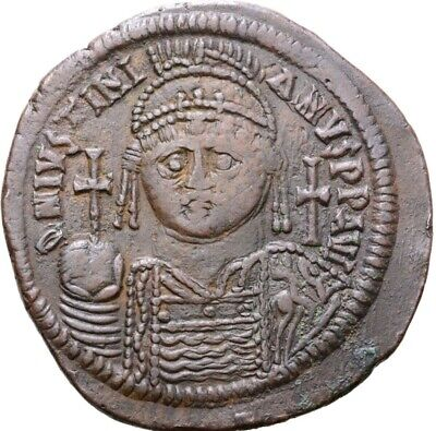 Justinian I, AD 527-565, AE Follis (41mm, 23,81g.), XII(538-539), Constantinople