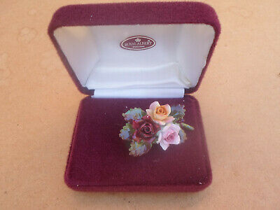 Royal Albert Old Country Roses Brooch