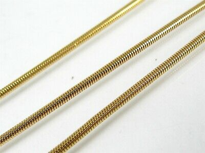 """Estate 14k Yellow Gold 2mm Snake Chain Ladies Necklace 12.1g 24""""L eb6466"""