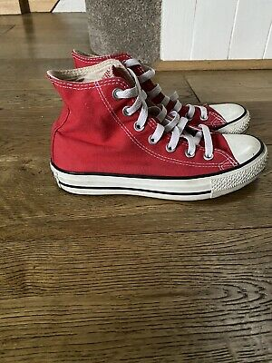 Converse Red High Tops Size 4