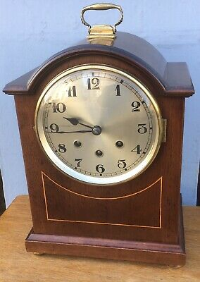 Antique Edwardian mahogany Bracket Mantel Mantle Westminster London Maker Clock