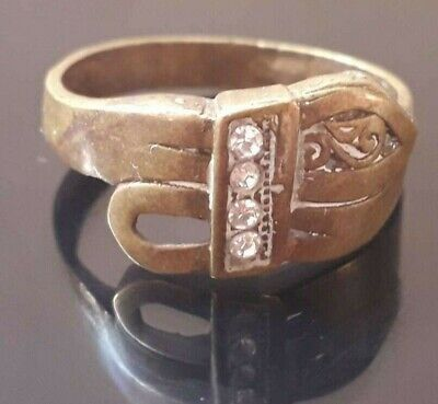 Viking Ring Rare Ornament Artifact Unique Stone Very Old Jewelry Bronze Antique