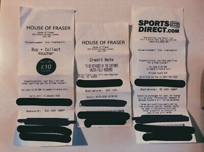£45 House of Fraser and Sports Direct Gift Card Voucher Codes