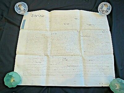 1720's Indenture Part Document South Sea Company Related. Transcript Included