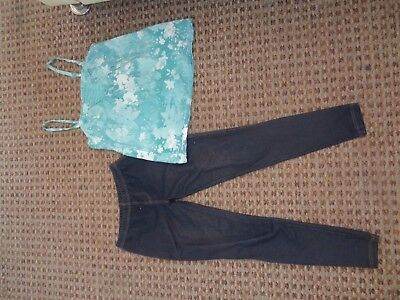 NEW LOOK-GIRLS BUNDLE SIZE 14-15 MIXED ITEMS CLOTHES MULTI LEGGINGS JEGGING top