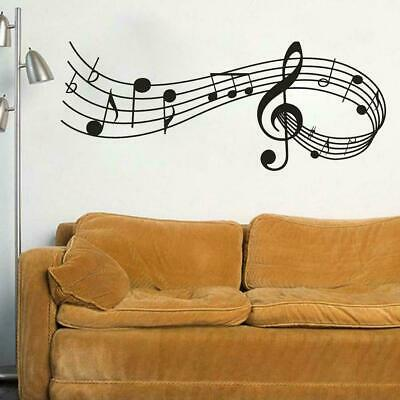 Music Notes Removable Wall Stickers Decals Vinyl Wall DIY Room Decor Band B5S3