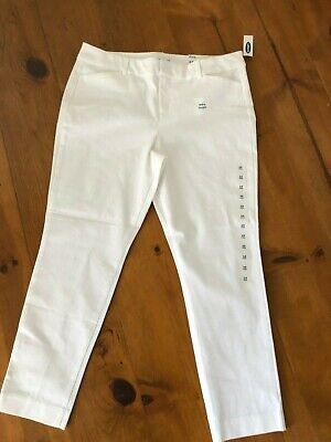 new~ Old Navy Women's 14 Pixie Ankle Pants White  Stretch NWT