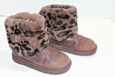 UGG Australia Boots Ellee Animal Stout 1003723k youth girls Size 13