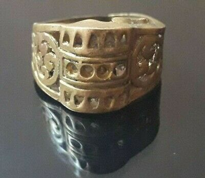 Ancient Viking Ring Bronze Old Jewelry Very Rare Ornament Fabulous Collection