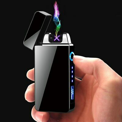 Windproof USB Touch Dual Arc Electric Lighters Pulse Plasma Cigarette Lighter