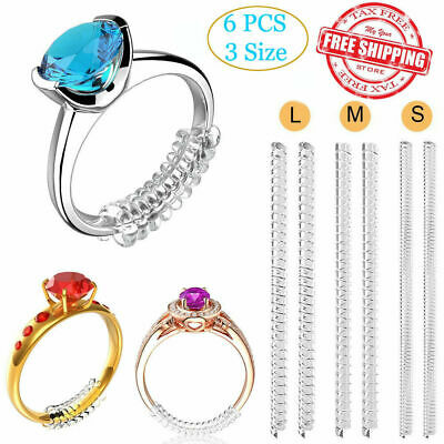 Ring Size Reducer Resizer Adjuster 6pcs Ring Size Clip Guard Invisible Design W