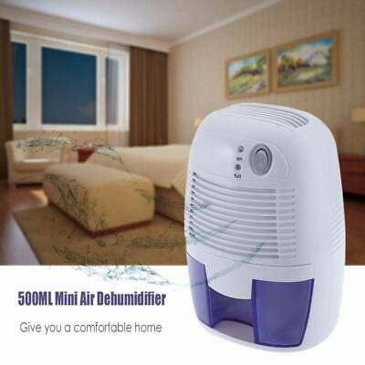 Mini Thermo Electric Air Dehumidifier Damp Moisture Small Rooms Bedroom 500ml