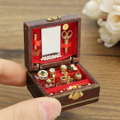 1/12 Dollhouse Miniatures Jewelry Box /Doll Room Decor House Accessory Fine
