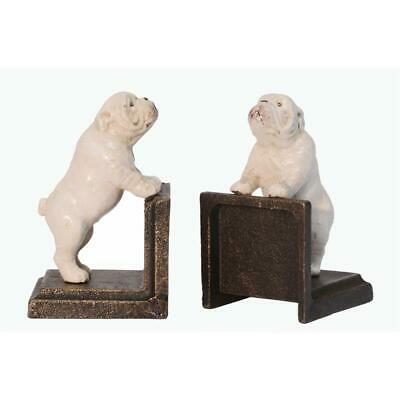 Cast Iron Pair Of Bulldog Book Ends Best Quality Set Of Two See My Other Items
