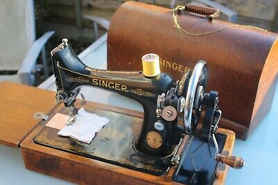 Vintage/Antique Singer Sewing Machine 99K Hand Cranked Working Perfectly Domed C