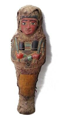 Egyptian Antique Ushabti Shabti Servant Funerary Figurine With Hieroglyphics