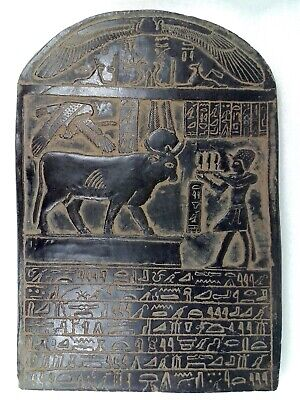 Egyptian Antique Ptolemaic Stela Stelae Ptolemy V Bull Buchis Grand Museum
