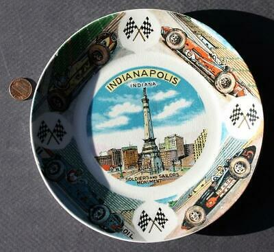 1950s Indiana Indianapolis Motor Speedway Indy 500 Auto Racing Souvenir Plate!*