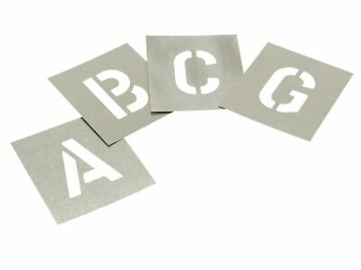 Set of Zinc Stencils - Letters 6in STNL6