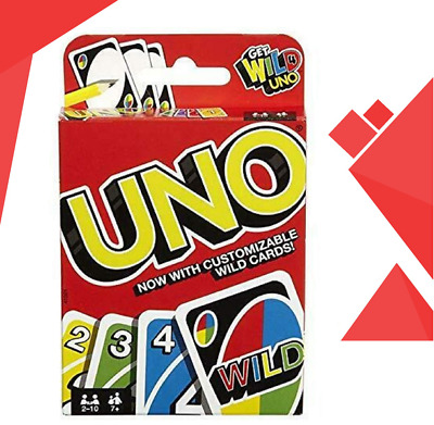 ✅ New Mattel UNO card Game with WILD CARDS Latest version Great Family Fun UK ✅
