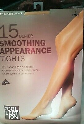 3PP Nude,Natural,Light Tan 10D /& 15D shine look tights in sizes M,L with Lycra