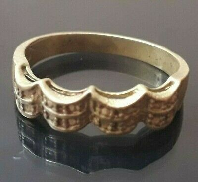 Ancient Ring Viking King Crown Very Old Wearable Unique Artifact Antique Rare