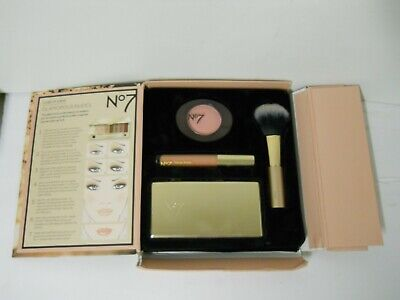 No. 7 Glamorous Nudes Luxe In A Box Eyeshadow Blush Lip Gloss Set Cosmetics Kit