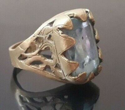 Antique Viking Ring Bronze Very Old Type Stunning Quality Rare Artifact Jewelry