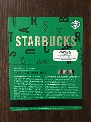 "Canada Series Starbucks ""STARBUCKS 2020"" Gift Card WITH BLACK MAG STRIPE"