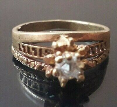 Ancient Wedding Ring Viking Queen Unique Jewelry Very Rare Old Stunning Stone