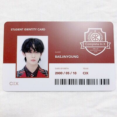 CIX JINYOUNG Official Photocard (Student ID) 2nd Album HELLO CHAPTER 2. [NUMB]