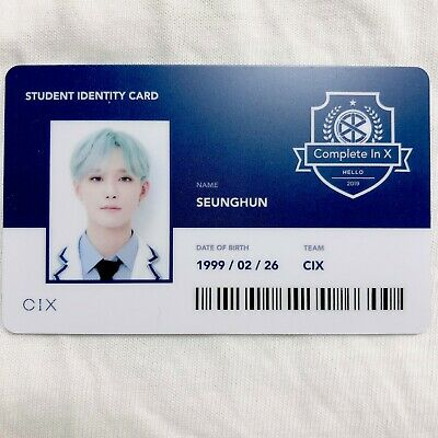 CIX SEUNGHUN Official Photocard (Student ID) 2nd Album HELLO CHAPTER 2. [NUMB] 1