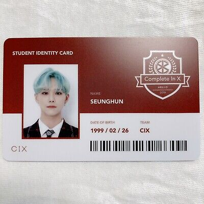 CIX SEUNGHUN Official Photocard (Student ID) 2nd Album HELLO CHAPTER 2. [NUMB] 2