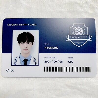 CIX HYUNSUK Official Photocard (Student ID) 2nd Album HELLO CHAPTER 2. [NUMB]