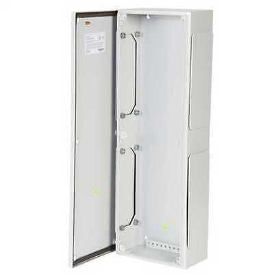 2x Steel Wall Box Service Compartment Enclosure Electrical Outdoor Metal Cabinet