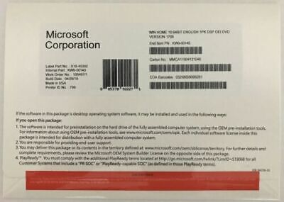 Microsoft Windows 10 PRO Professional 64bit DVD + COA Product Key + Hardware USA