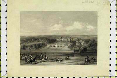 Original Old Antique Print C1840 Louis Xiv Chace Hunting Horses Radclyffe 19th