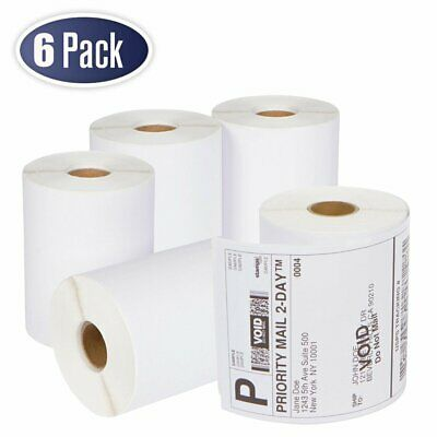 6 Rolls DYMO 4XL Thermal Postage Shipping Labels 4x6 1744907 Compatible 220/Roll