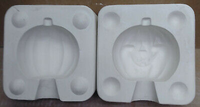 Ceramic Mold Pumpkin with Face POHC 615  used mold