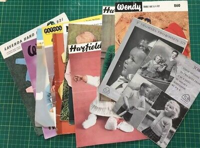 12 Vintage Child And Baby Knitting Patterns