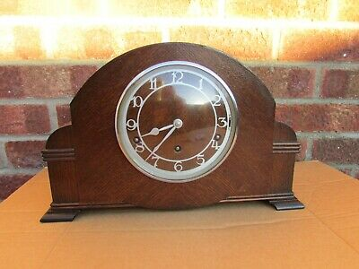 1930s Garrard Oak 8 Day Westminster Chime Clock