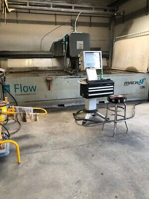 "(1) Used 6' 5"" X 13' Flow Mach 4 402B 5-Axis Waterjet - New 2011"