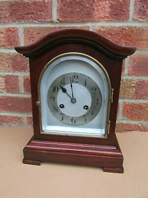 German Mahogany 8 Day Striking Bracket Clock by Junghans C1910.
