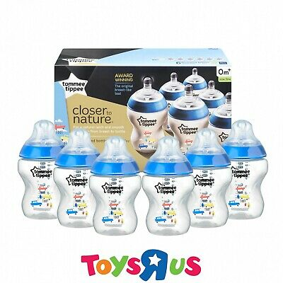 Tommee Tippee Blue Feeding Bottles 6PK