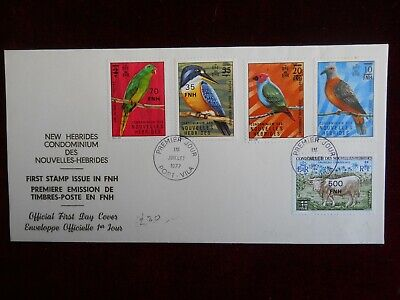 New Hebrides Official First Day Cover, First Stamp Issue in FNH,  1st July 1977