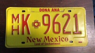 1980s NEW MEXICO MOBILE HOME LICENSE PLATE EXPIRED MH K 9261