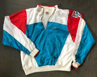 Vintage Nike 1990's International Large 1/4 Zip Track Jacket -Men's Coat