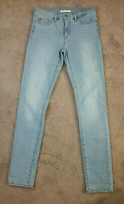 WOMEN'S LEVI'S 311 Shaping Skinny Jeans Size 28 Light Blue