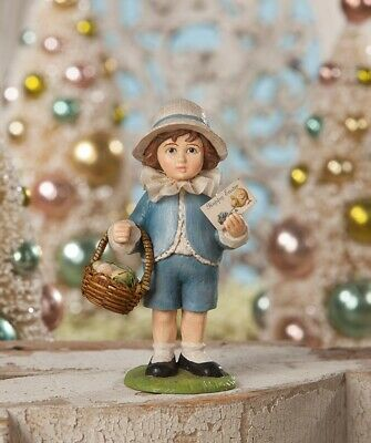 Bethany Lowe Easter Greeting Boy Spring Figure TD8505