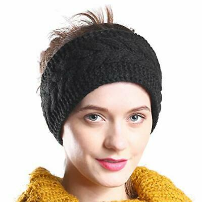 Hand By Hand Aprileo Womens Cable Knitted Headband Headwrap Stretchy Fit